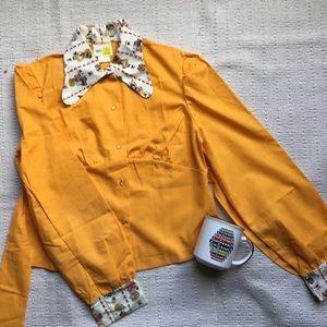 Vintage 70s Button Up Blouse